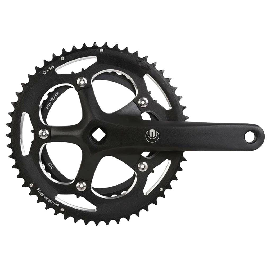 CRANKSET ECLYPSE R9 9 sp 172.5mm, 39/53T BCD:130mm, Square, Black