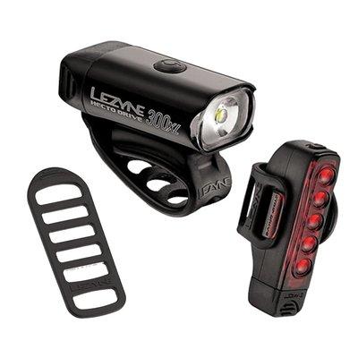 Lezyne LIGHT SET USB Lezyne STRIP DRIVE BLACK w/ SILICONE RUBBER STRAP