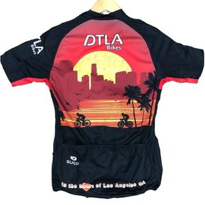 APPAREL JERSEY SUGOI DTLA Men's Evolution Short Slv Full Front Zip Small