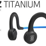 AURICULARES AFTERSHOKZ Deportes de conducción ósea Titanio con micrófono - Negro