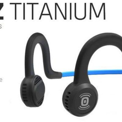 HEADPHONES AFTERSHOKZ Wired Sports Titanium w/ Mic - Onyx Black