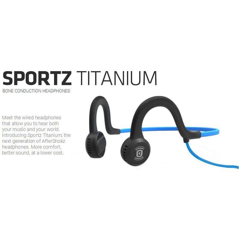 HEADPHONES AFTERSHOKZ Wired Sports Titanium w/ Mic - Onyx Black