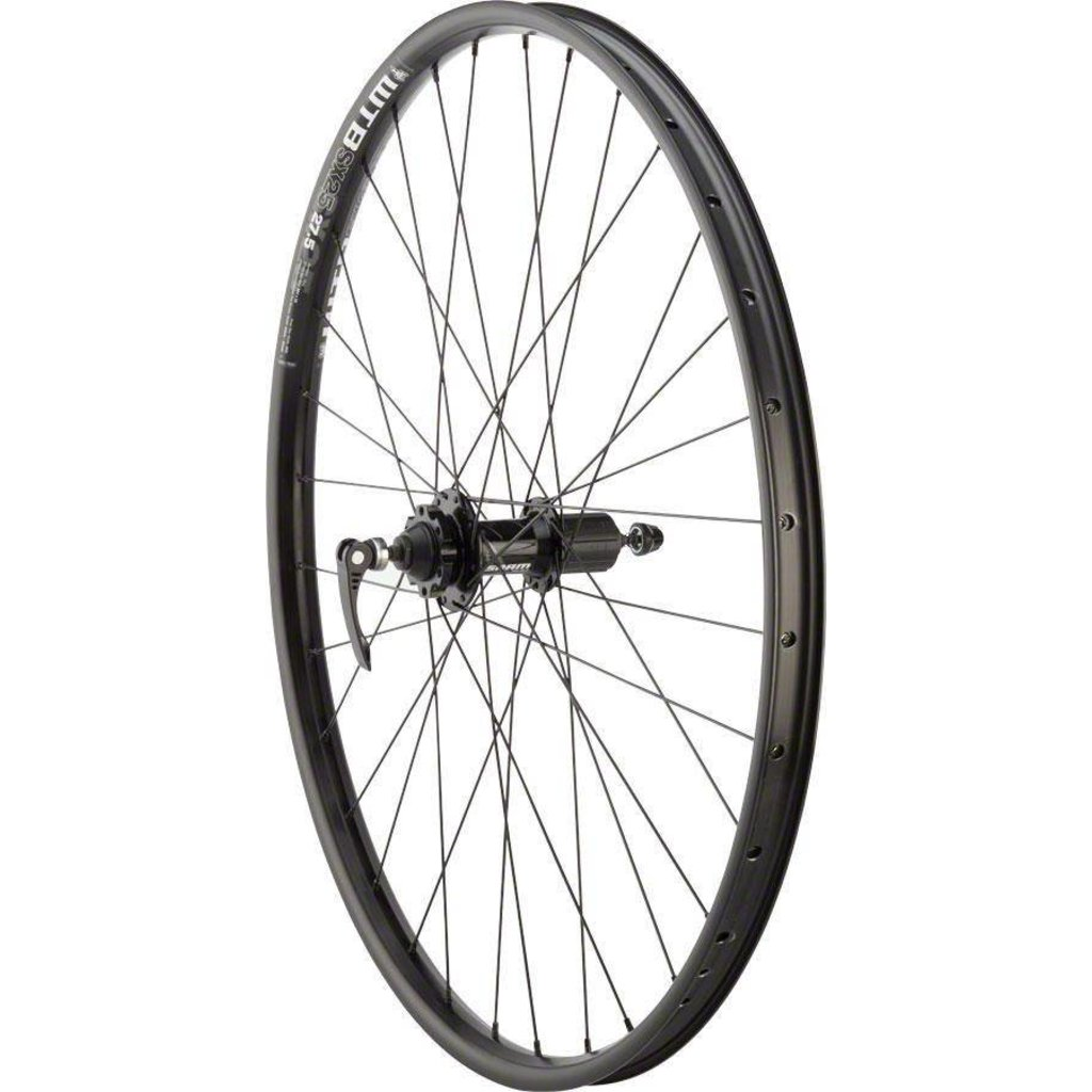 """WHEELS Quality Mountain Disc Rear Wheel 27.5"""" 32h 135mm QR SRAM 406 6- bolt / WTB SX25 Black"""