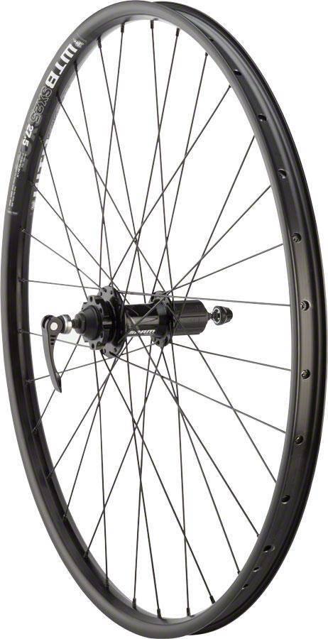 "Quality Wheels RUEDAS calidad disco de montaña rueda trasera 27,5  ""32h 135 mm QR SRAM 406 6-Bolt/WTB SX25 negro"