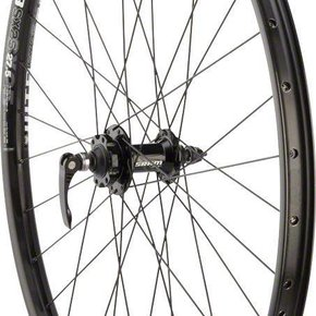 "Quality Wheels WHEELS Quality Mountain Disc Front Wheel 27.5"" 32h 100mm QR SRAM 406 6- bolt / WTB SX25 Black"