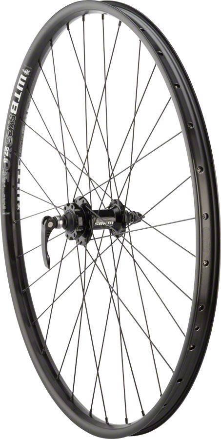 "Quality Wheels WHEELS Quality Mountain Disc Front Wheel 27.5"" 32h 100mm QR SRAM 406 6- bolt / WTB SX25 Black"