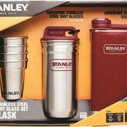 SET frasco Stanley Adventure Steel shots y 8 oz SS Hammertone Crimson