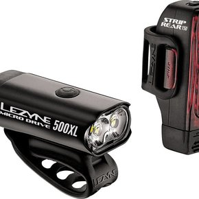 Lezyne LIGHT SET Lezyne Micro Drive 500XL Headlight and Taillight set, Black