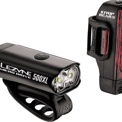Lezyne LIGHT SET Lezyne Micro Drive 500XL Headlight and Taillight set, Black