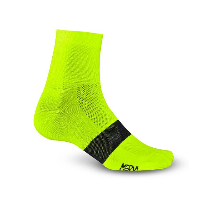 Giro APPAREL SOCKS GIRO CLASSIC RACER HI YELLOW/BLACK LARGE 15