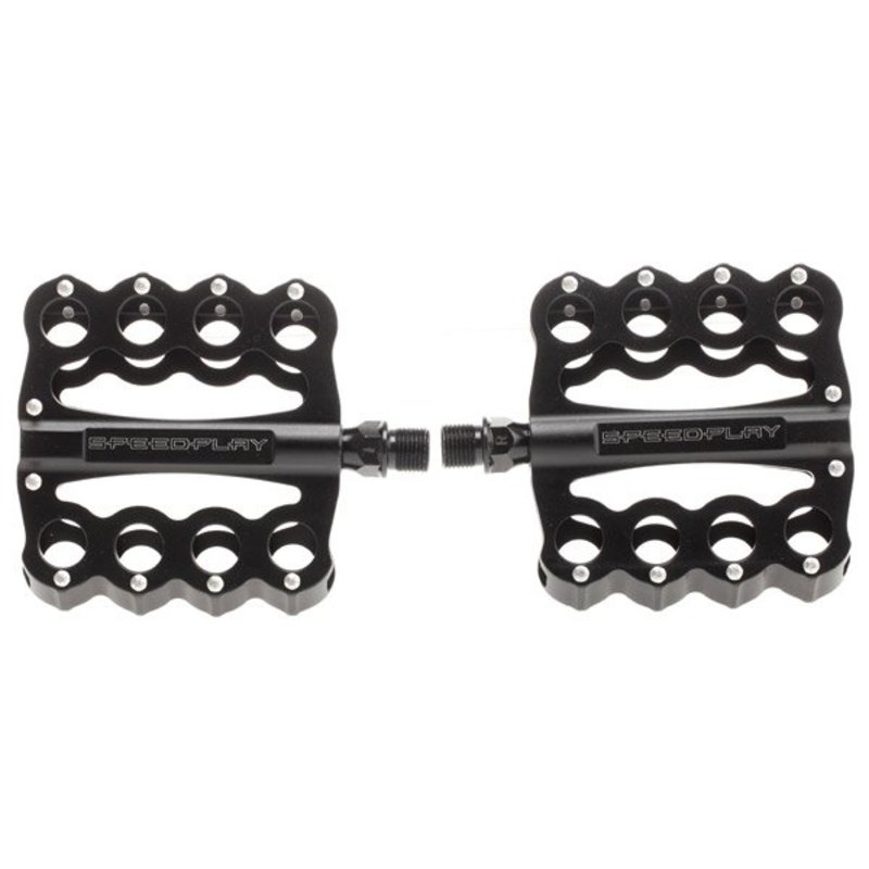 PEDALS 9/16 SPEEDPLAY Brass Knuckles w/ Chrome-Moly Spindle Black