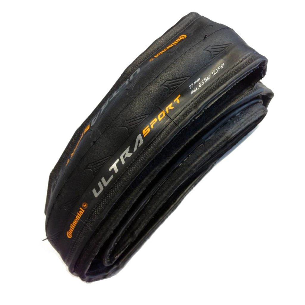 Continental TIRES FOLD 700x25 CONTINENTAL Ultra Sport II Black-BW