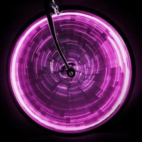 LUZ brillo de la rueda de sol para una rueda de color rosa