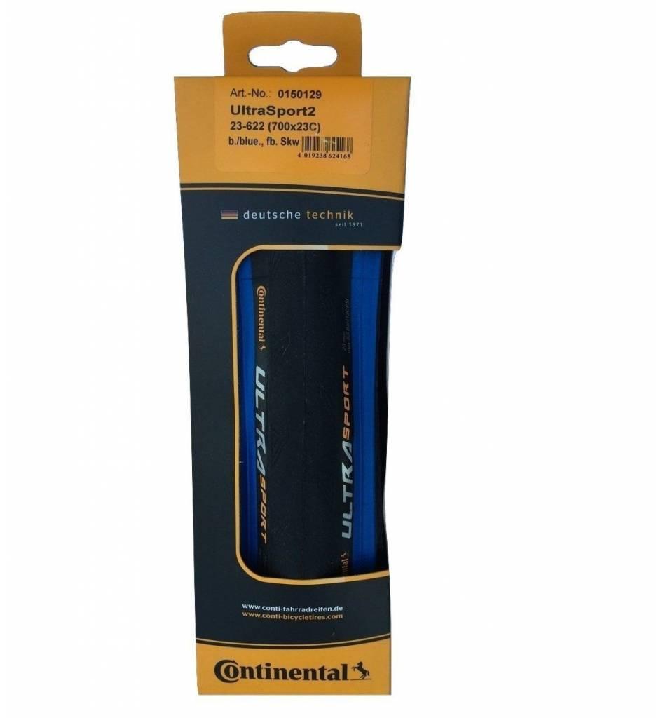 Continental LLANTAS PLEGADO 700x25 CONTINENTAL ULTRA SPORT II - Fold Blue-BW