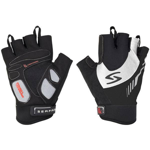 GLOVES SHORT FINGER SERFAS MEN'S RX BLACK