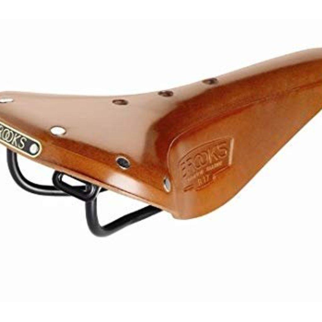 Brooks SADDLE BROOKS B17 Narrow Honey Black Steel