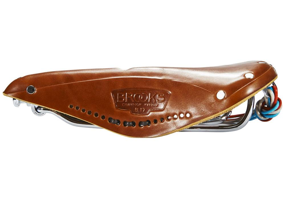 Brooks SADDLE BROOKS Imperial B17 Std w/ Hole and Laces Honey
