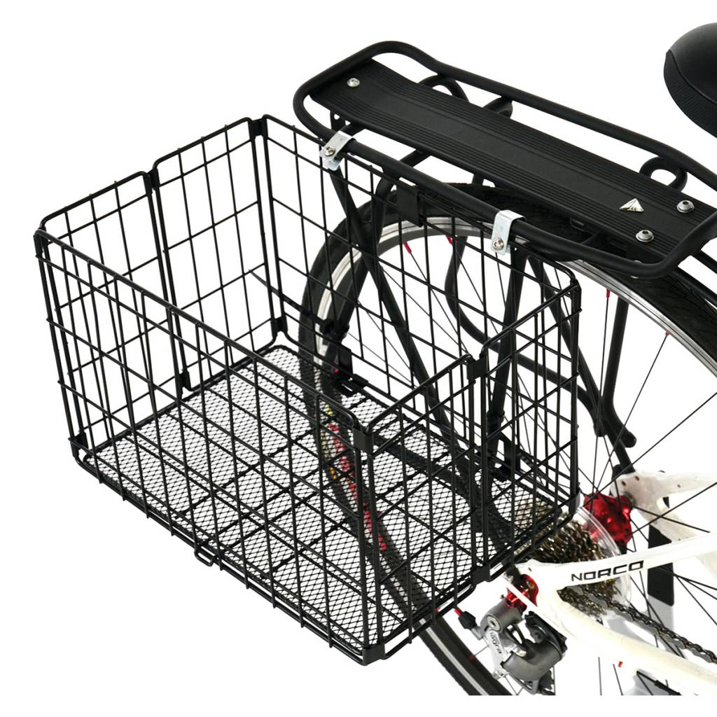 BASKET AXIOM REAR WIRE FOLDING STD BLACK