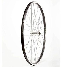 WHEEL 700C EVO E Tour Wheel Shop Rear 36H Black Alloy Double Wall 19/ Black Formula DC-22 QR 8-10spd 6 Bolt Disc Hub, Stainless Spokes