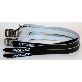 XLC PEDAL STRAPS XLC LEATHER DOUBLE BLACK