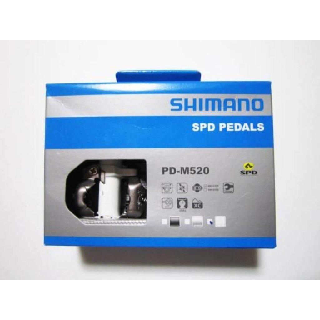 Shimano PEDALS 9/16 SHIMANO PD-M520 SPD white