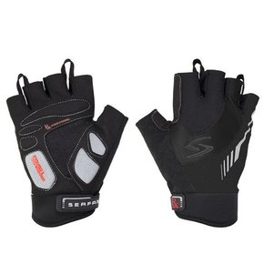 GLOVES SHORT FINGER SERFAS MEN'S RX BLACK MEDIUM