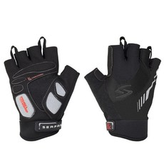 GLOVES SHORT FINGER SERFAS RX GEL BLACK SMALL