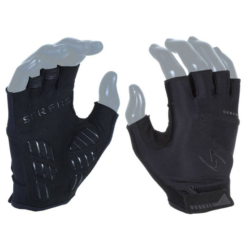 GLOVES SHORT FINGER SERFAS MEN'S VIGOR RX BLACK SMALL