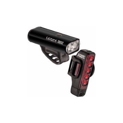 Lezyne LIGHT SET USB LEZYNE Lite Drive 800XL / Strip Drive Pro Pair Black