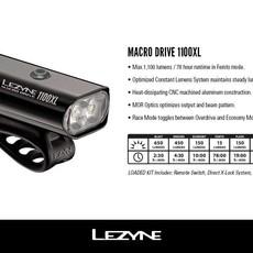 Lezyne HEAD LIGHT Lezyne Macro Drive 1100XL Black