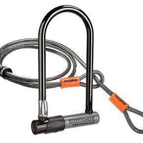 Kryptonite LOCKS U-LOCK KRYPTONITE Kryptolok Series 2 Mini-7 13mmx3.25x7 w/ 4ft. Cable Grey
