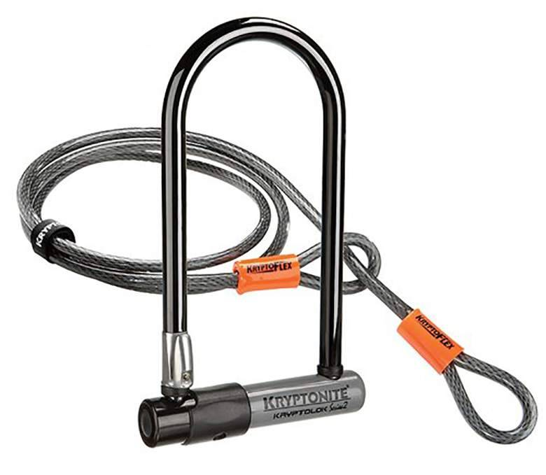 Kryptonite CERRADURAS U-LOCK KRYPTONITE Kryptolok Series 2 Mini-7 13mmx3.25x7 w / 4ft. Cable Gris