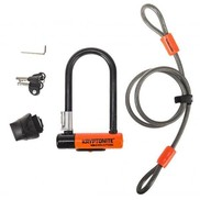 Kryptonite LOCKS U KRYPTONITE Evolution Mini-7 (DD) Key W/ Cable - Orange