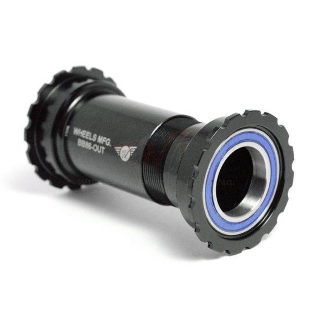 Wheels Manufacturing BB86/92 Shimano Bottom Bracket with ABEC-3 Bearings Black Cups - Threaded