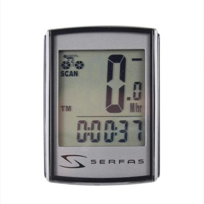 CYCLING COMPUTER SERFAS 19 FUNCTION LEVEL 4+ BACKLIT WIRELESS SPEED