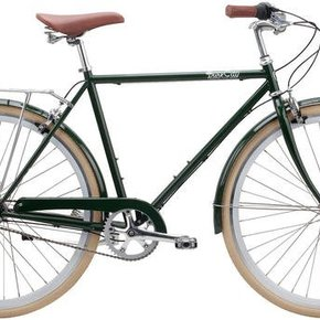 BIKES PURE CITY CLIFTON 3 SPEED OLIVE GREEN WHT WHLS/CREAM TIRES 54CM