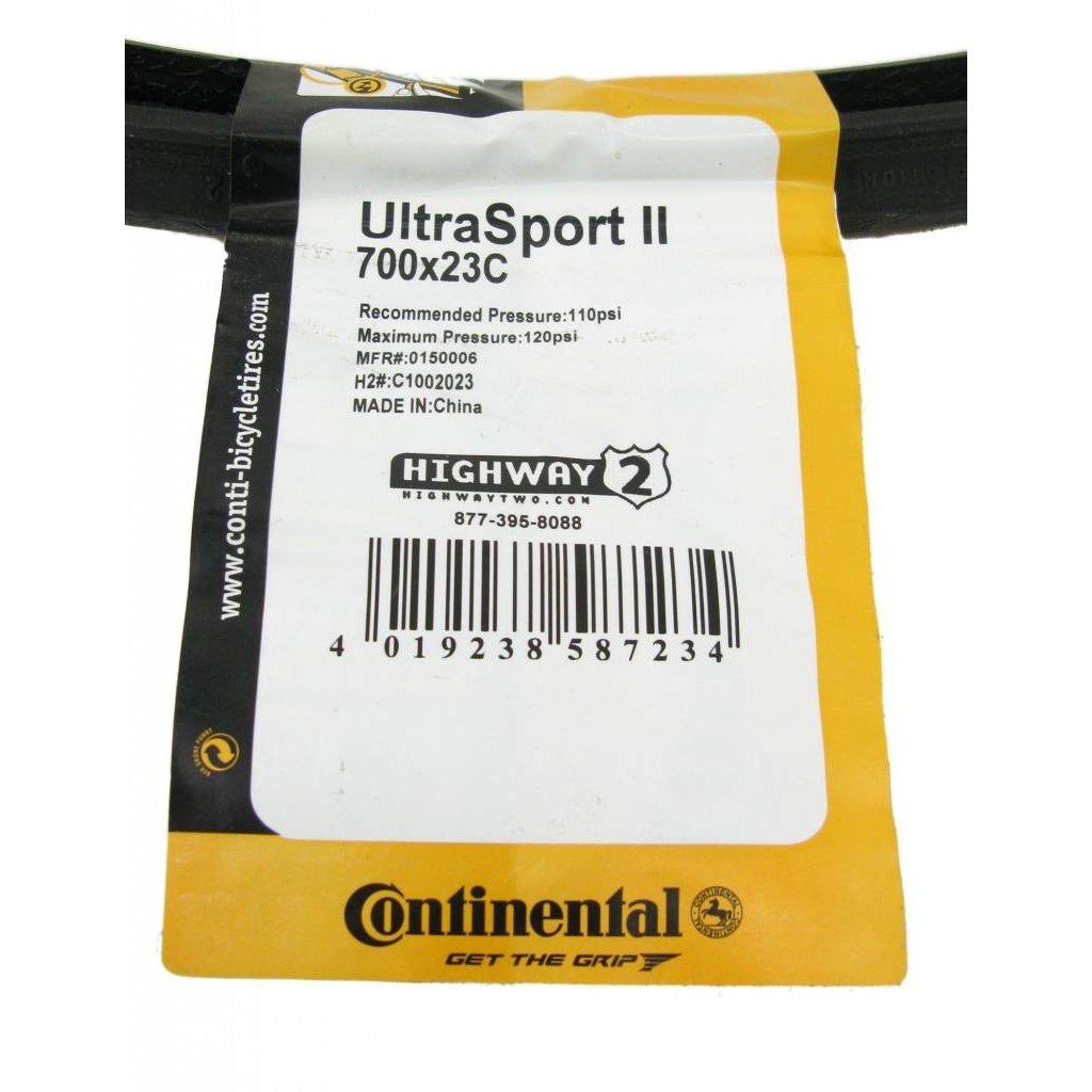 Continental TIRES FOLD 700x23 CONTINENTAL ULTRA SPORT II Blue-BW