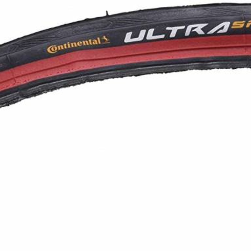 Continental TIRES FOLD 700 x 25 CONTINENTAL ULTRA SPORT II  Red-BW