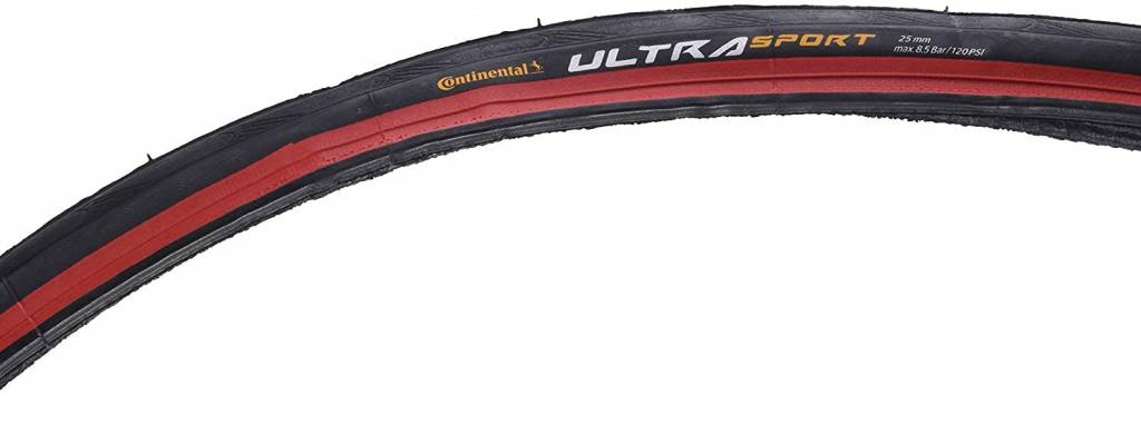 Continental TIRES FOLD 700x25 CONTINENTAL ULTRA SPORT II - Red-BW