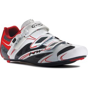 Northwave SHOES NORTHWAVE Sonic SRS WHT/BLK/RED SIZE 43