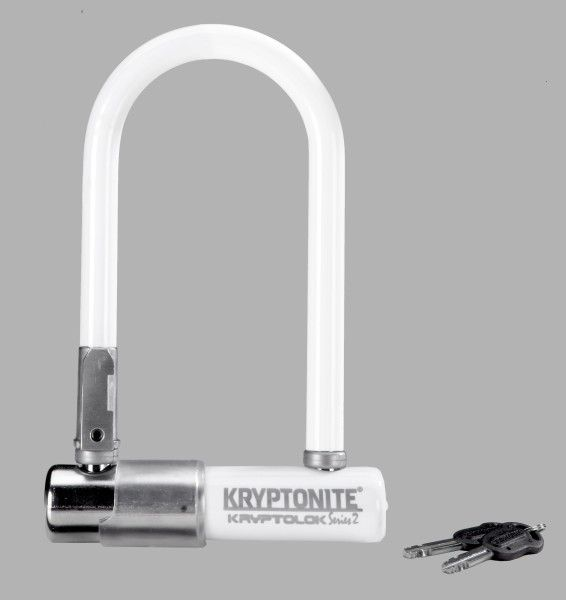Kryptonite LOCKS U-LOCK KRYPTONITE Kryptolok Series 2 Mini-7 3.25x7 White