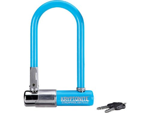 Kryptonite LOCKS U-LOCK KRYPTONITE Kryptolok Series 2 Mini-7 3.25x7 Blue