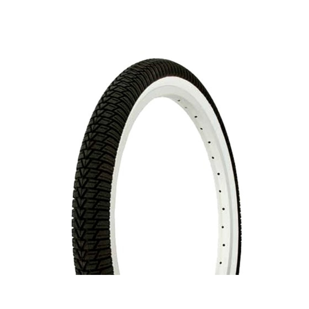 TIRES 20x1.25 F&R DURO BLACK/WHITE SIDE WALL HF-841