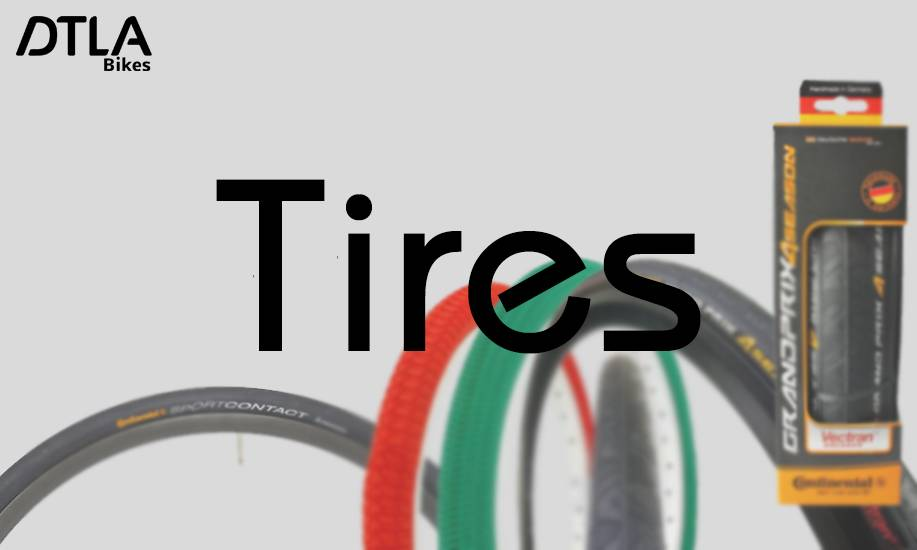 Tires in a variety of colors & sizes