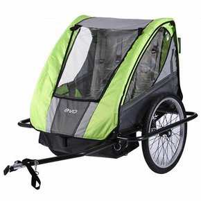 "BABY TRAILER EVO E-Tec 2-UP ST 20"" GREY/GREEN"