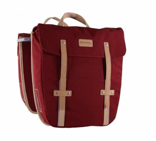 PANNIER BASIL Portland Double bag Dark Red