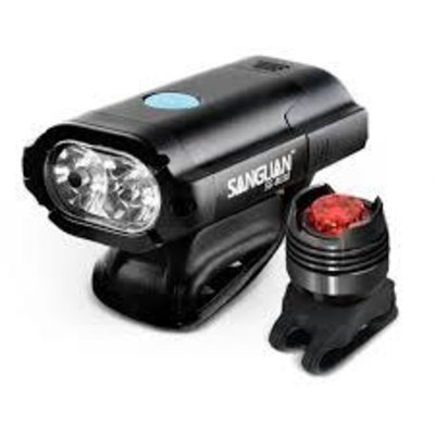 LIGHTS Commuter Headlight Tail Light Set 450Lumen