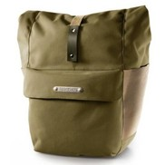 Brooks PANNIER Norfolk Front Travel Panniers w/ Roll Top - Green/Honey