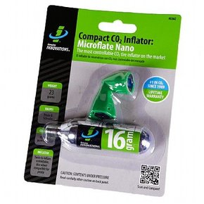 Genuine Innovations, Microflate Nano, CO2 Inflator, No cartridge, Black