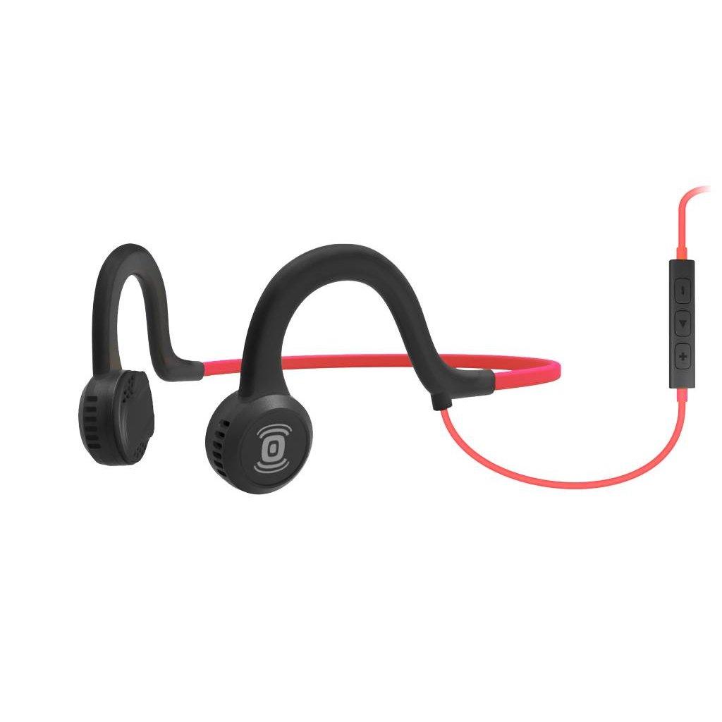HEADPHONES AFTERSHOKZ Wired Sports Titanium w/ Mic Lava Red